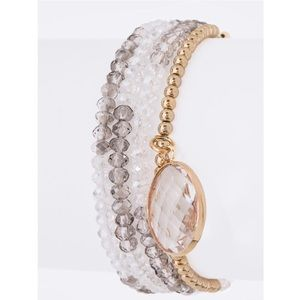 Jewelry - 2 @ 30✅ Crystal Drop Layer Bracelet